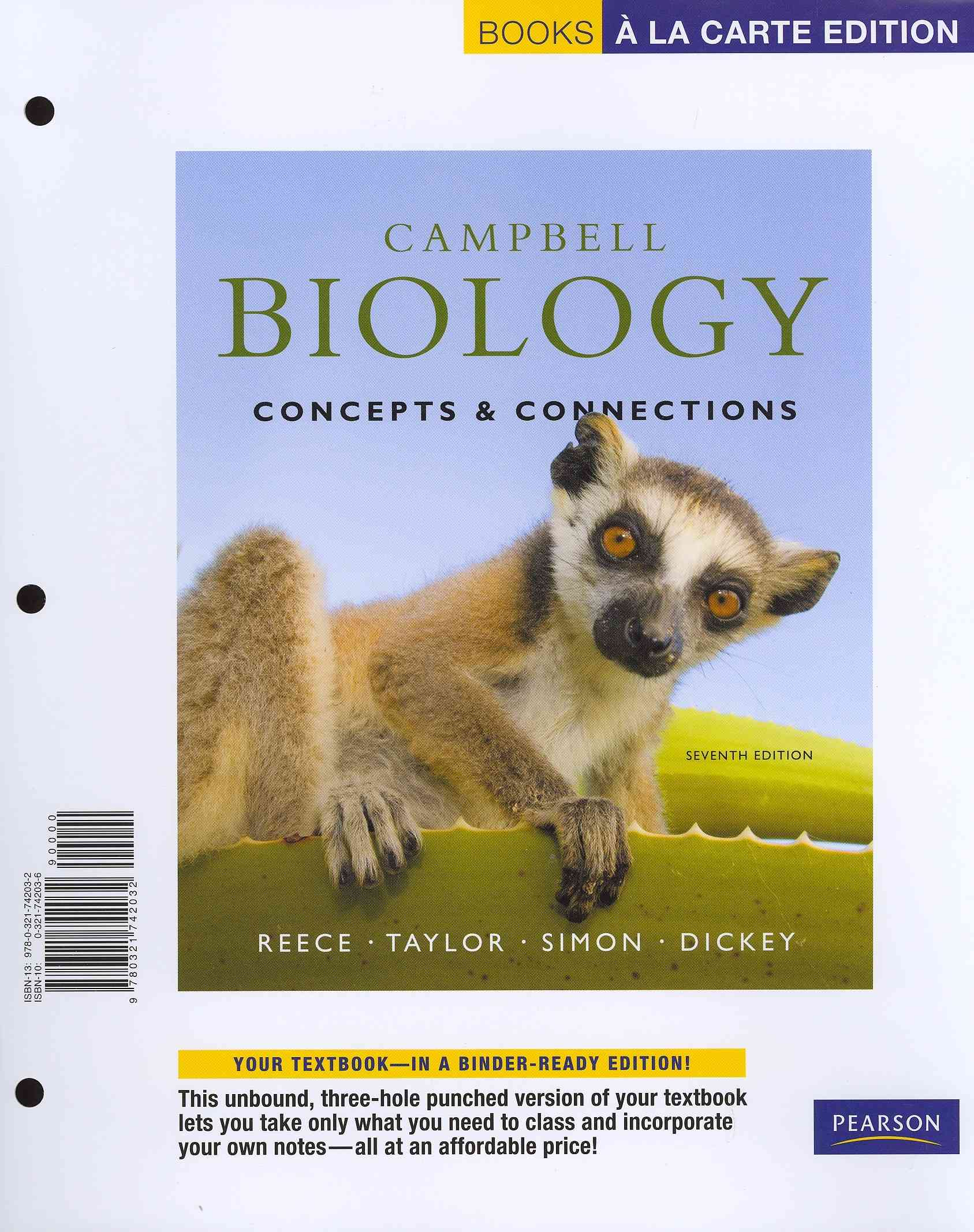 Benjamin-Cummings Publishing Company Campbell Biology: Concepts & Connections [With Access Code] (7th Edition) by Reece, Jane B./ Taylor, Martha R./ Simon, Eric J. [ at Sears.com